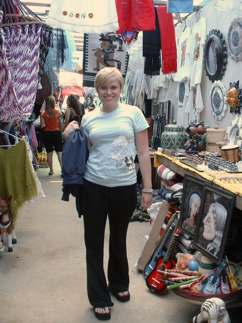 Lovely Sam shopping in the Puerto Nuevo Markets.