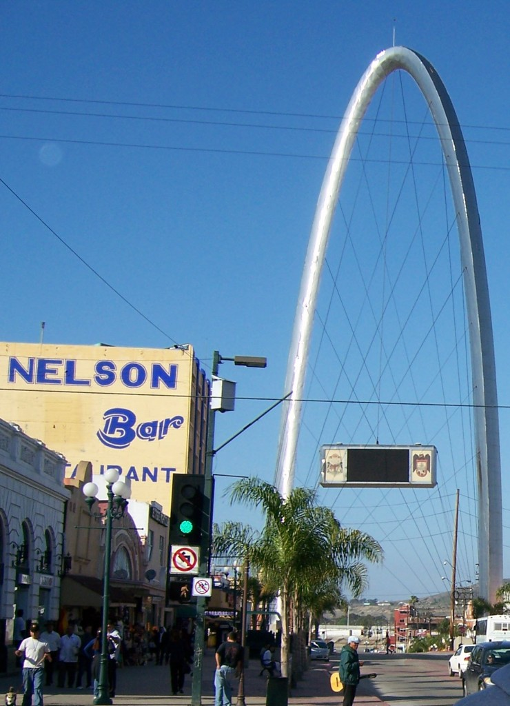 Tijuana arch on Avenida Revolution.