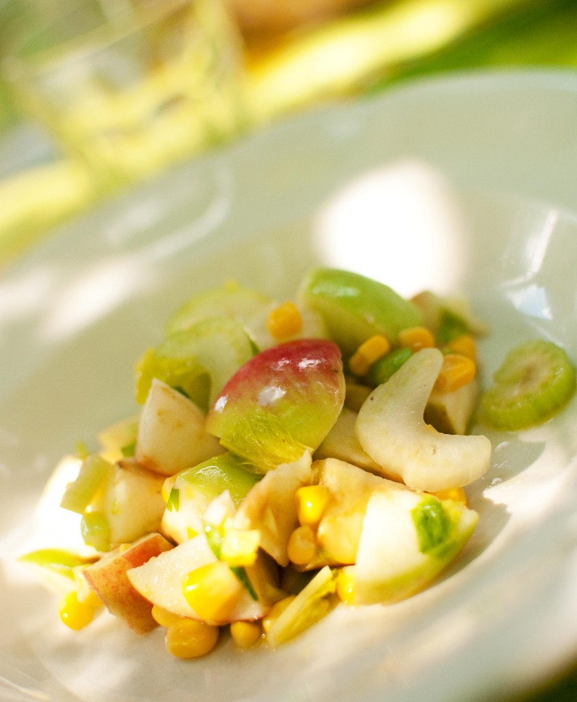 Apple Corn Fennel Salad in Italy smaller 842x1024 Eating on a Budget in Europe.