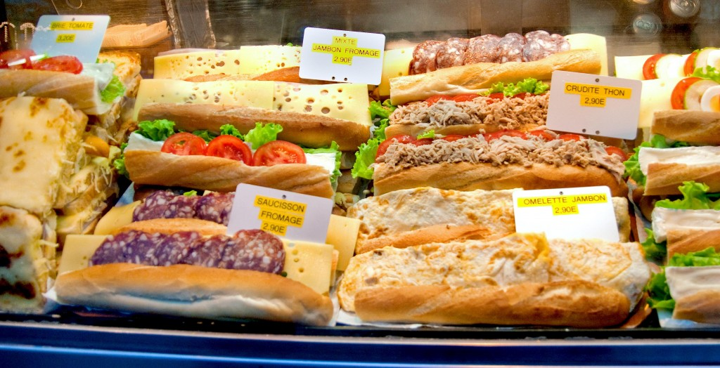 Paris Street food Cheap Paninis in paris smaller 1024x524 Eating on a Budget in Europe.