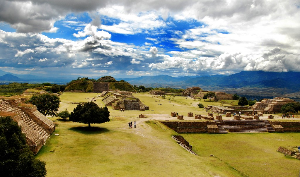 The Ruins of Monte Alban, Oaxaca, Mexico.