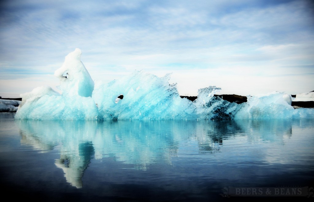 Floating Iceberg in Glacier Bay in Iceland.