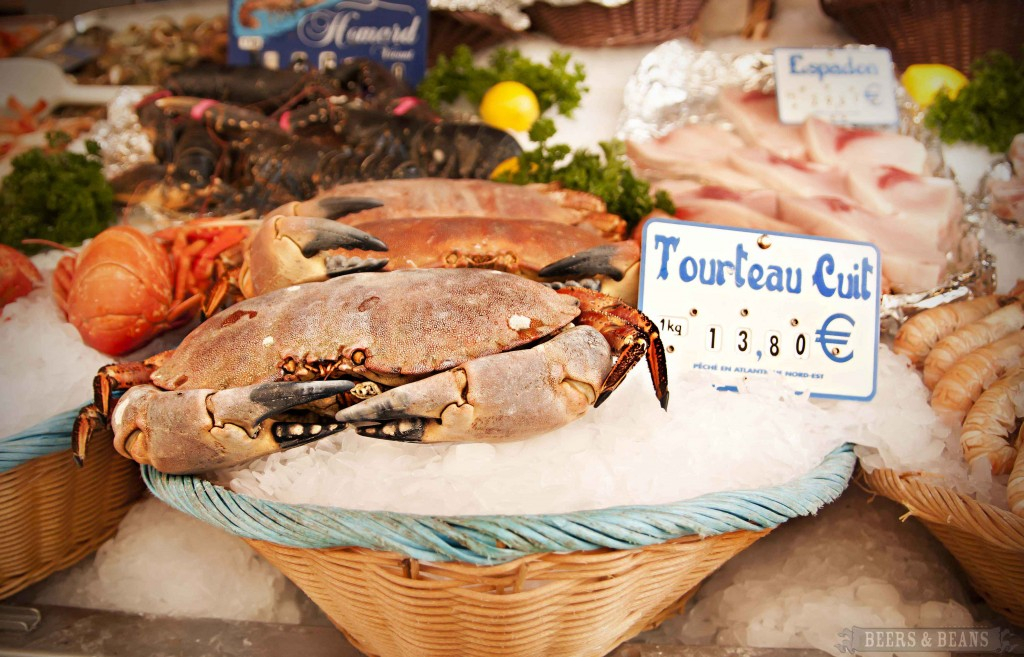 Crab at Paris Market smallerforBnB 1024x657 Scenes From A Paris Market   A Travel Photo Essay