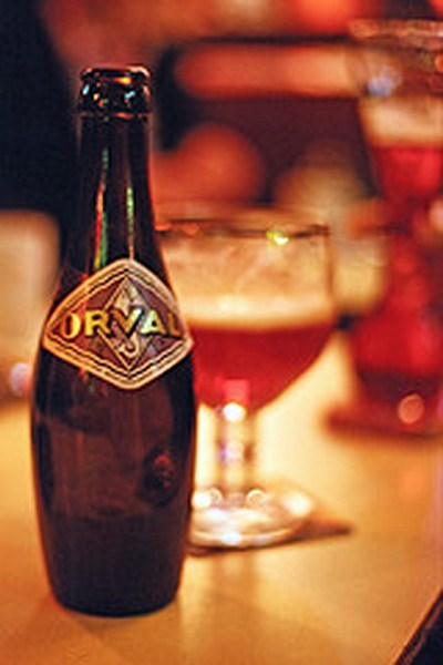 A bottle of Belgium beer.