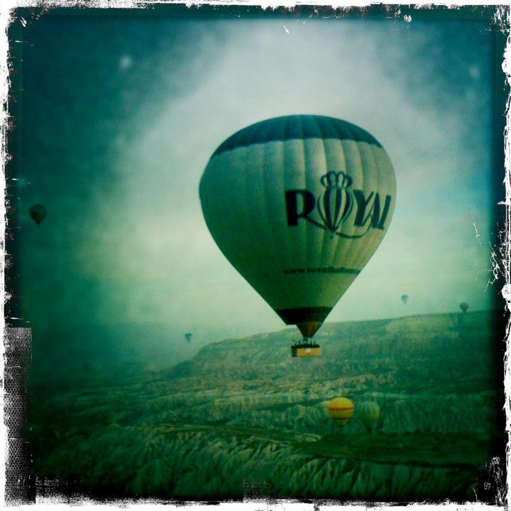 Balloon flying over Cappadocia, Turkey.