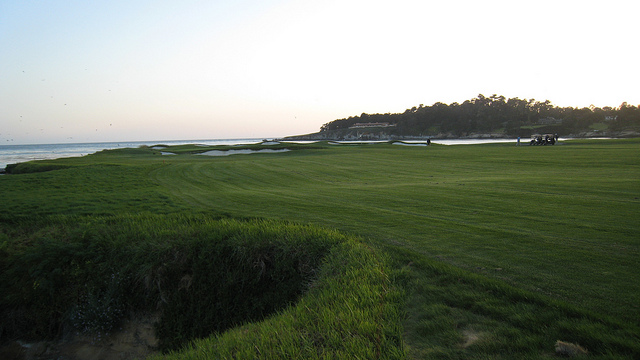 A fairway at Pebble Beach, California.