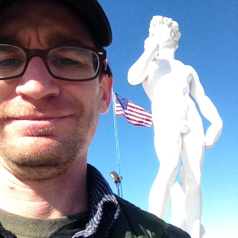 A California David statue in Baker, California.