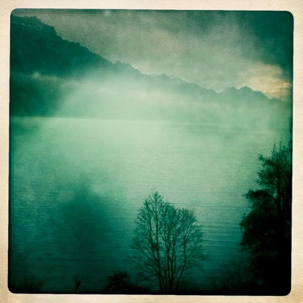 A lake in the Swiss Alps between Lucerne and Interlaken.