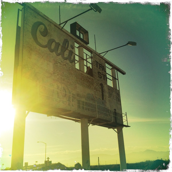 An antique billboard for a California truck stop near Calico ghost town.
