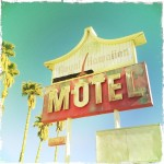 A vintage California highway motel in Baker, California.