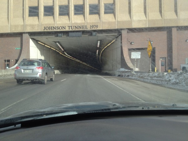 The Johnson Tunnel on Interstate 70 near Denver, Colorado.