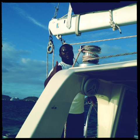 Crusing on a Catamaran in St. Kitts.