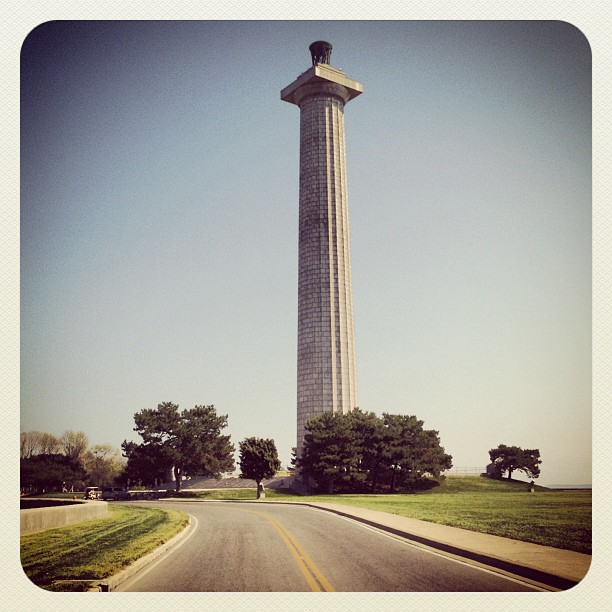 A picture of Perry's monument on Put-in-Bay, Ohio.