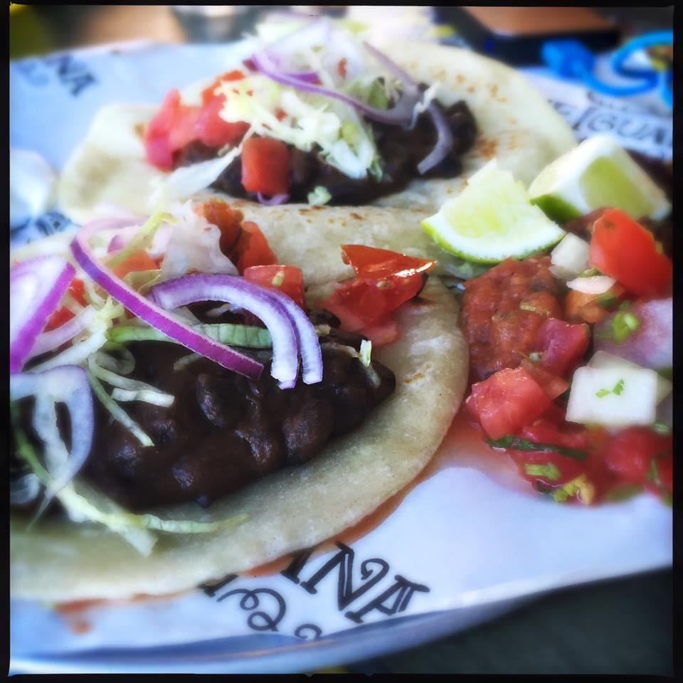 Black bean tacos from the BlueIguana Cantina on the Carnival Glory.