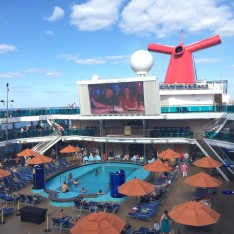 The lido deck and pool on the Carnival Dream.