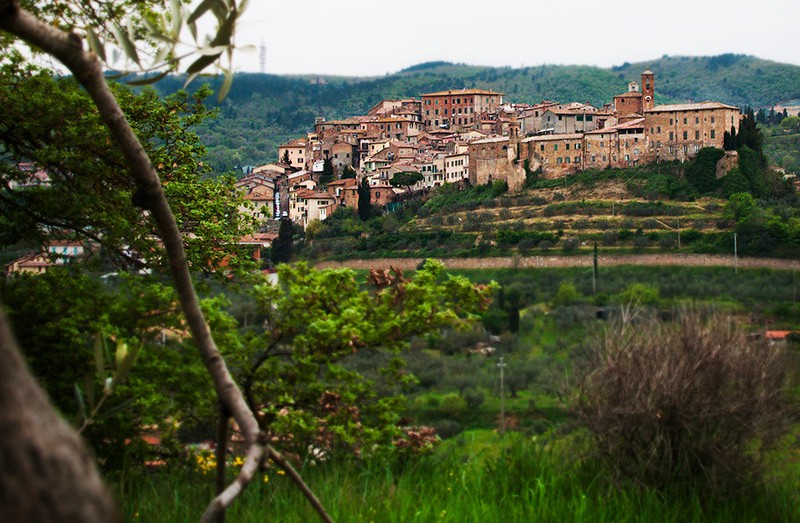 Chianciano Vecchia a hill town in central Italy.