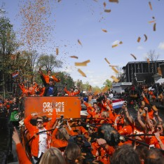 DJ Hardwell playing at King's Day in Amsterdam.