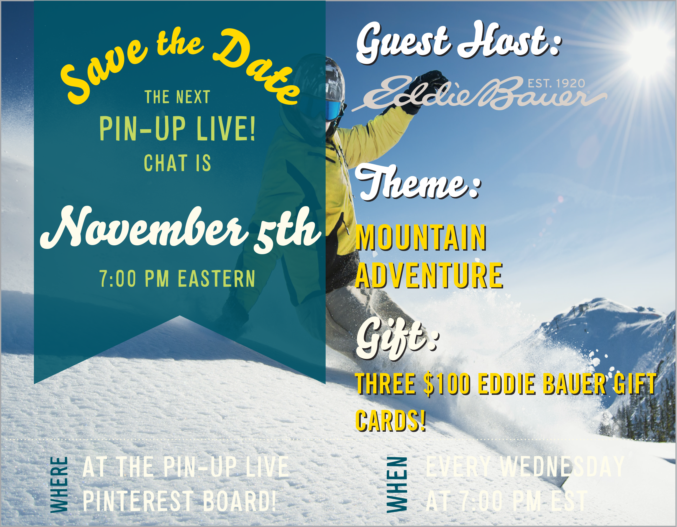 Love Mountain Adventures? Join Us, @AFAR and @EddieBauer Tomorrow (11/5) on Pin-Up Live: