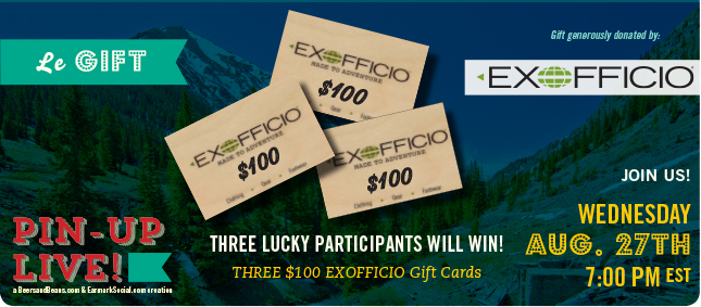 ExOfficio FB Prize Pack Pin Up Live! Join Us Wed. (8/27) on #Pinterest to Talk Travel with @ExOfficio