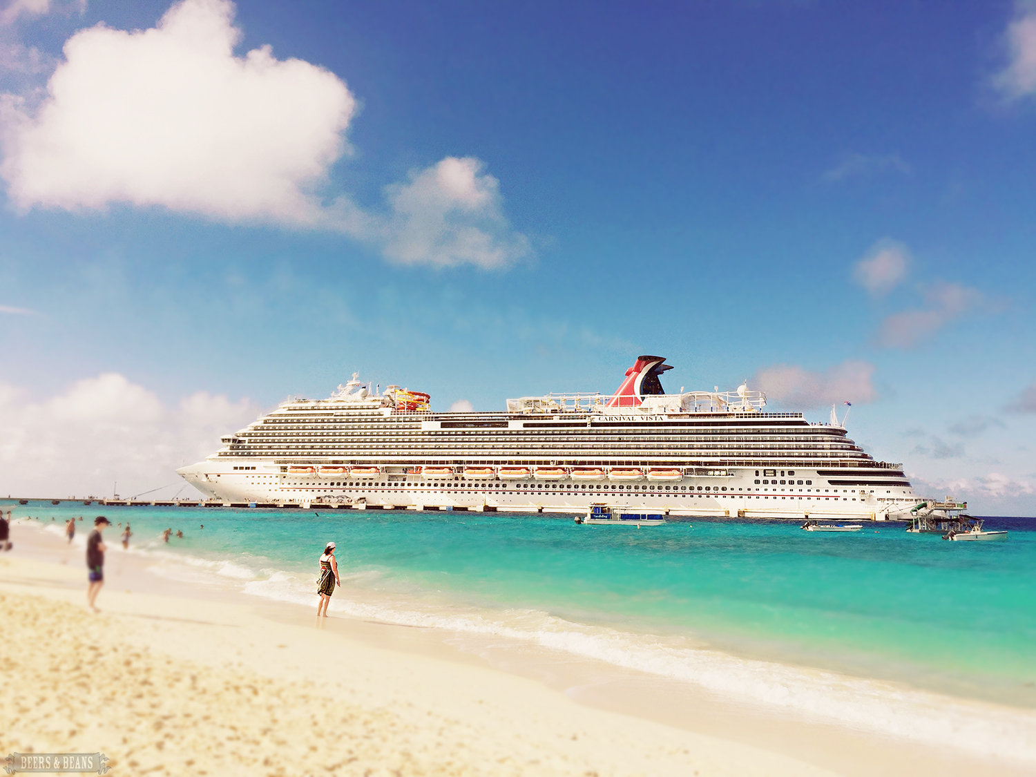 The Carnival Vista near the beach in Grand Turk.