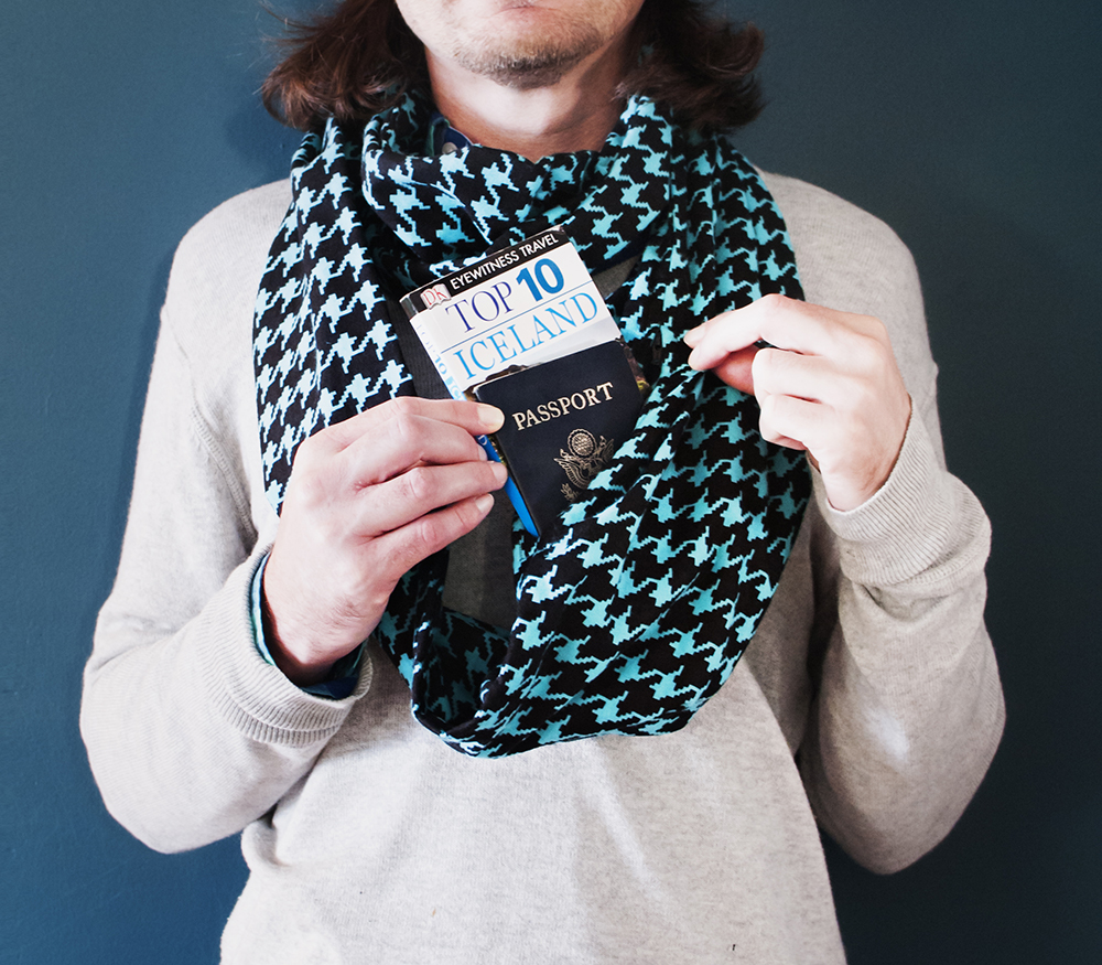 HIdden pocket scarf for BnB Blue Houndstooth 3 copy