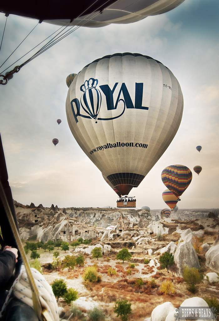 Hot Air Balloon Ride with Royal Balloon in Cappadocia Turkey