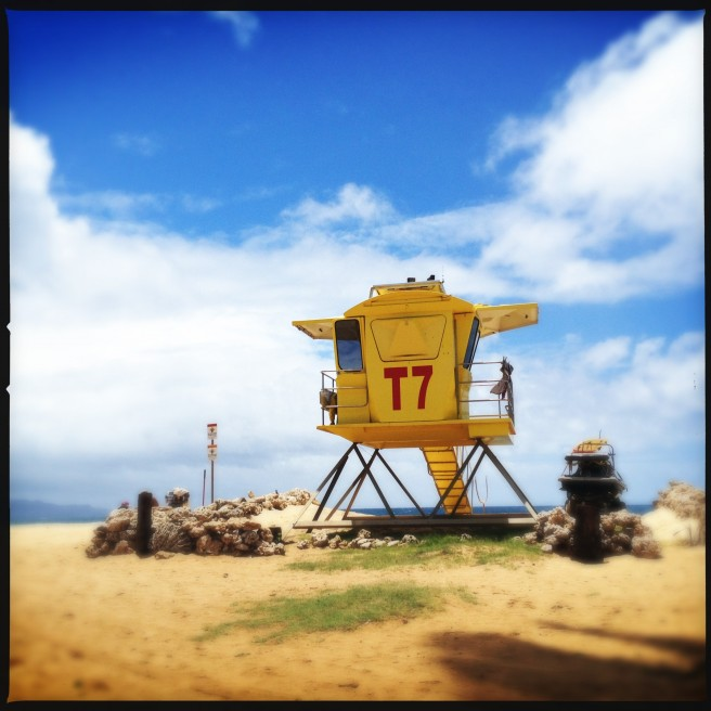 Lifeguard tower in Paia Town in Maui's North Shore.