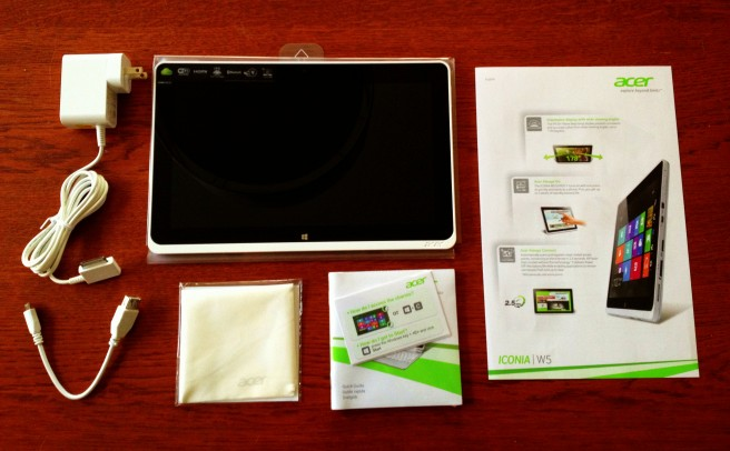 A brand new Acer Iconia W510 Intel Tablet unpacked for the first time.