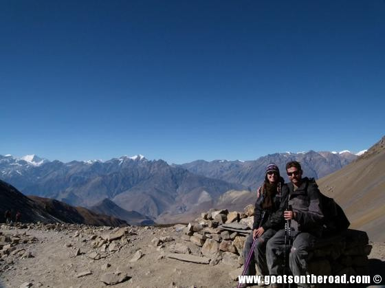 A couple resting in Annapurna Circuit.