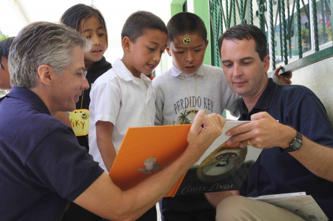 Joe Jeff reading with kids1 656x437 Travel With Us This Week On Very Special Journey to Guatemala  #CoEdGuatemala