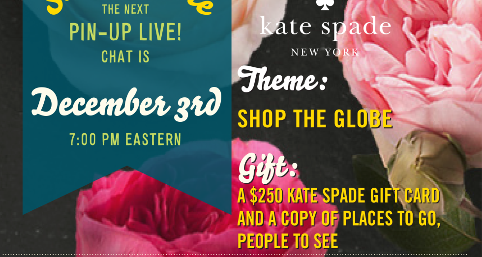 Kate Spade Newsletter Pin for Pinterest Party.