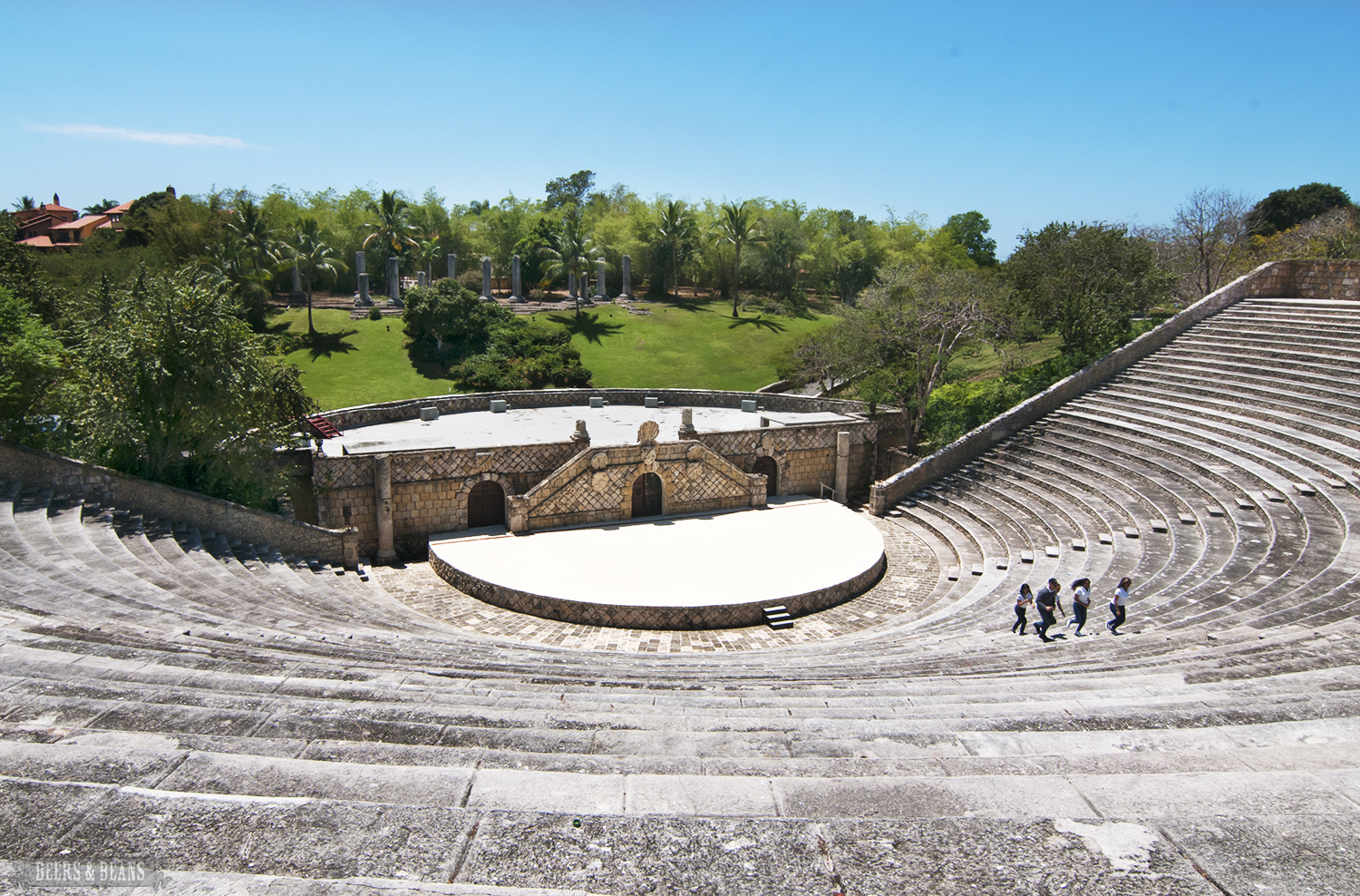 Greek-style amphitheater at Altos de Chavón in La Romana, Dominican Republic.