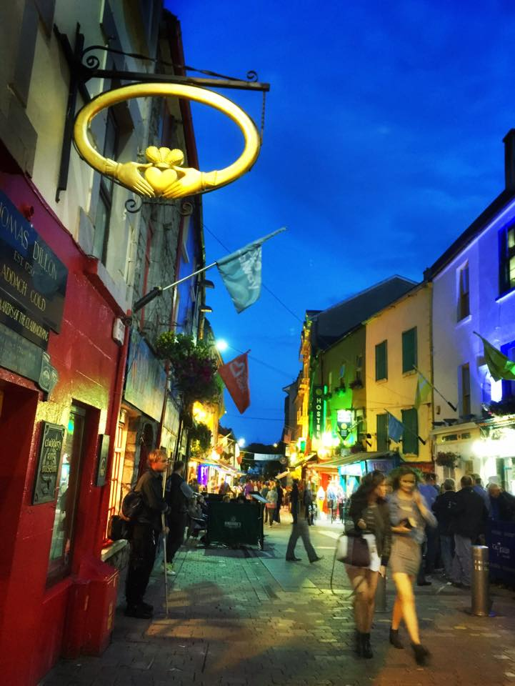 Historic District Galway at night.