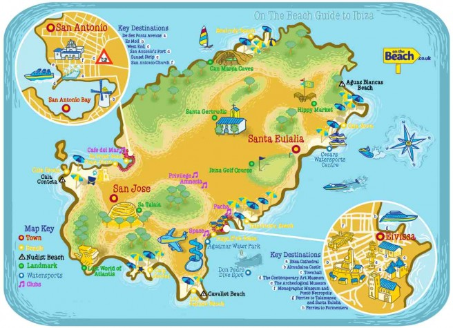 Ibiza Map provided by On The Beach