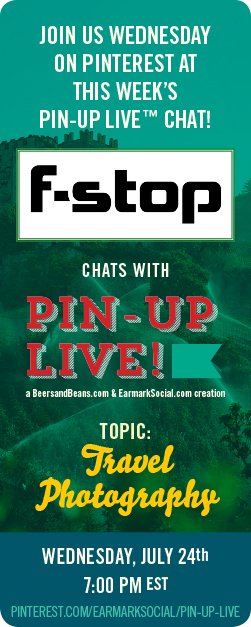 Pinterest Chat Promo for Pin-Up Live with F-Stop Gear.