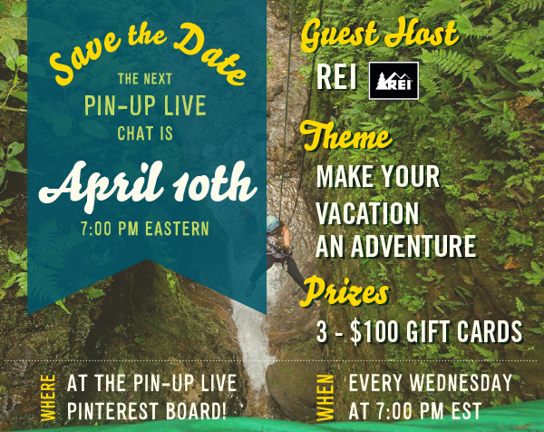 Pin Up Live Pinterest Save the Date for REI