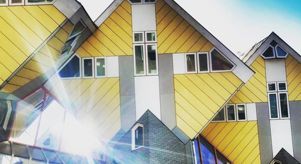 Rotterdam's famous yellow cube houses.
