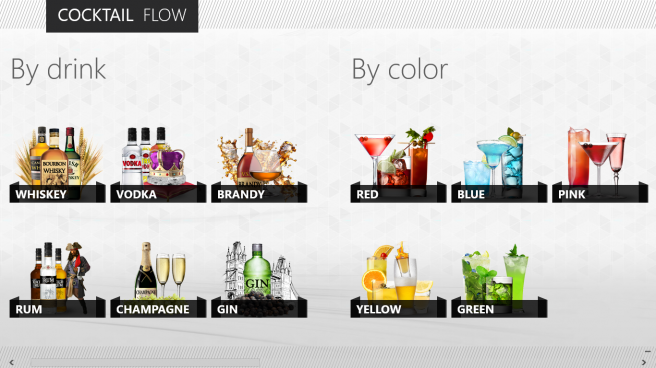 Cocktail Flow, a Windows 8 app, is perfect for finding drink recipes even offline.