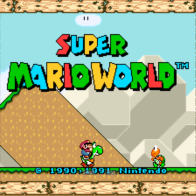 A screen shot of Super Mario World running on a Windows 8 Intel Tablet.