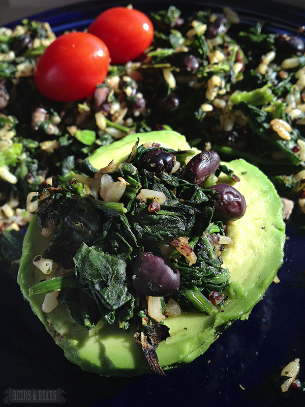 Spinach, Bean, Avocado Power Breakfast for pinterest