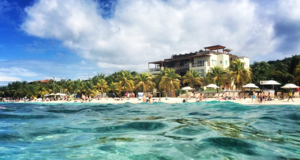 West End Beach in Roatan, Honduras.
