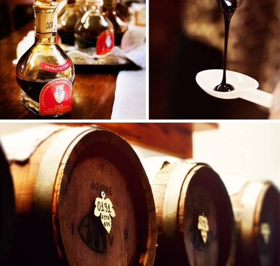 Traditional balsamic vinegar of Modena.