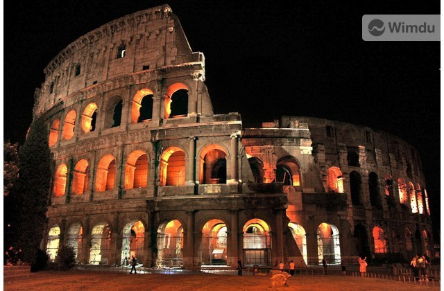 The Coliseum in Rome at Night