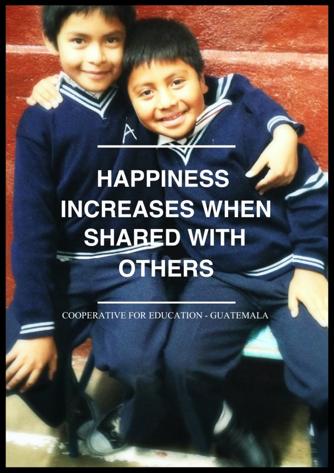 Guatemala inspiration poster with school children.