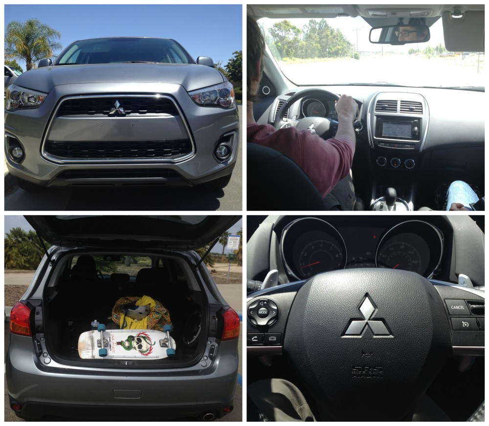 mitsubishi outlander collage e1405370574854 Exploring San Diegos Best Skateparks with a Mitsubishi Outlander Sport