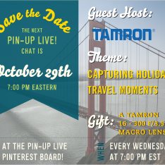Want to Take Better Holiday Pics? We'll Show You How This Week (10/29) on Pin-Up Live! with @TamronUSA PLUS Win A Tamron Lens: