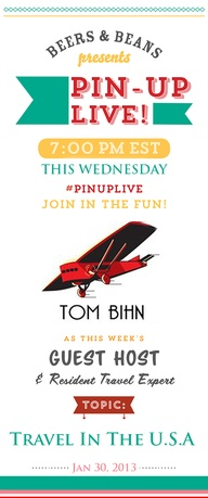 Pin Up Live on Pinterest with Tom Bihn.