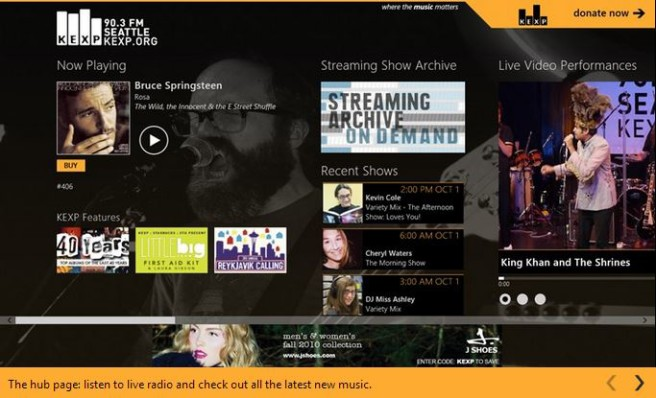 KEXP Music App for Windows 8.