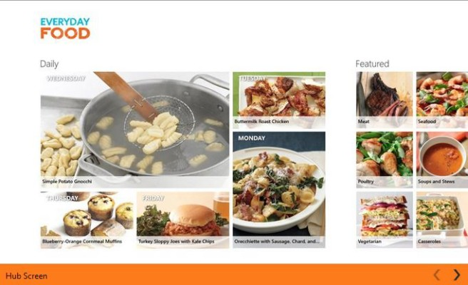 Everyday Food recipe and cooking app for Windows 8.