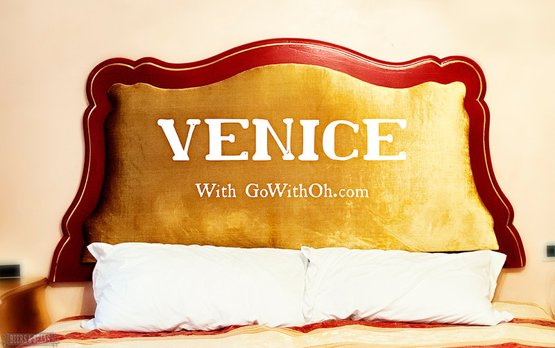 A truly venetian bed in a Venice Flat in San Marco.